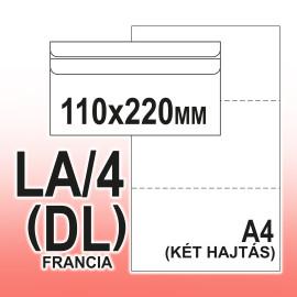 LA/4 (110 x 220mm) Öntapadós 45 x 90mm (a15j20) jobb ablakos  Boríték