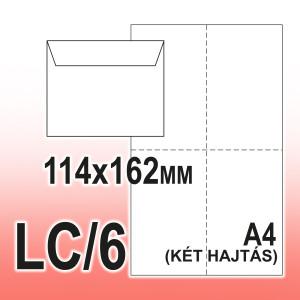 LC/6 (114 x 162 mm) boríték