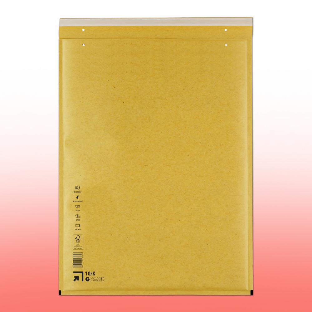 K/20 Légpárnás (buborékos) Boríték, Tasak (370x480) aranybarna/barna