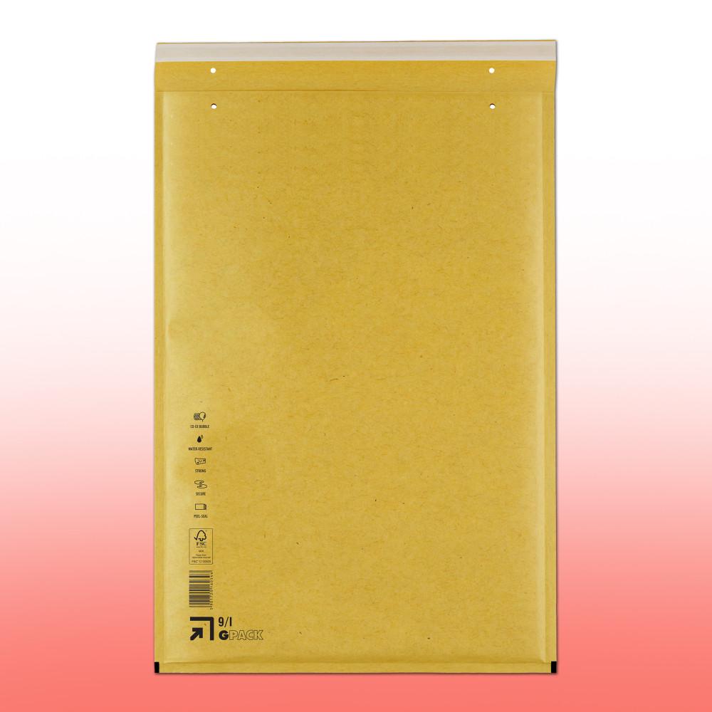 I/19 Légpárnás (buborékos) Boríték, Tasak (320x455) aranybarna/barna